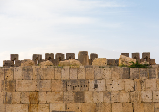 Huge wall  in the archaeological site, Beqaa Governorate, Baalbek, Lebanon