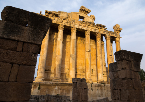Temple of Bacchus in the archaeological site, Beqaa Governorate, Baalbek, Lebanon