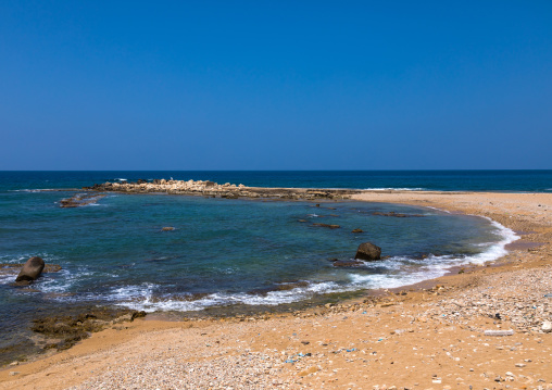 Deserted seashore, South Governorate, Tyre, Lebanon