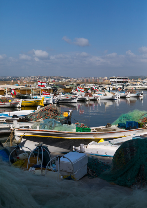Fishing boats in port, South Governorate, Tyre, Lebanon