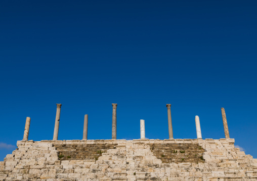 Grandstand at the hippodrome in al Bass site, South Governorate, Tyre, Lebanon