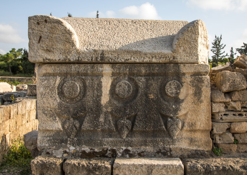 Grave in the necropolis of el Bass, South Governorate, Tyre, Lebanon
