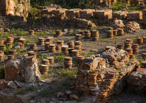 Roman heating system  in al-Mina archaeological site, South Governorate, Tyre, Lebanon