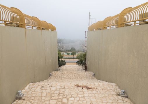 War museum operated by Hezbollah called the tourist landmark of the resistance or museum for resistance tourism, South Governorate, Mleeta, Lebanon