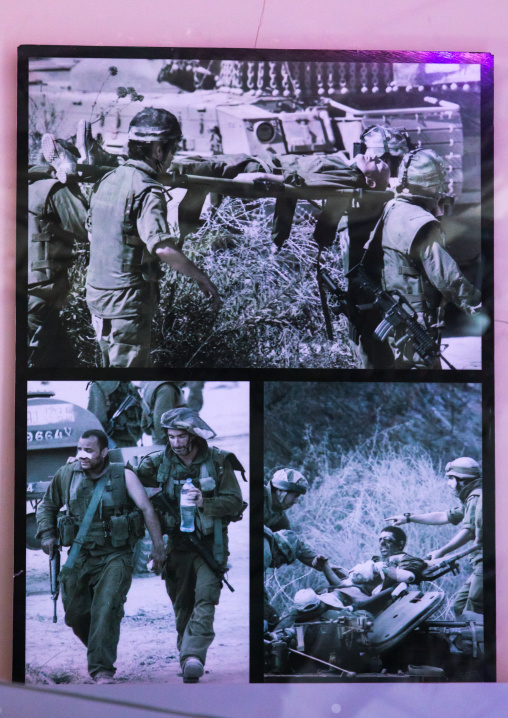 Israeli soldiers pictures in the war museum operated by Hezbollah called the tourist landmark of the resistance or museum for resistance tourism, Nabatiyeh Governorate, Mleeta, Lebanon