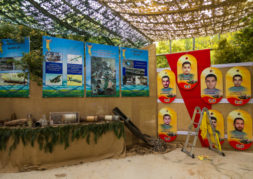 War museum operated by Hezbollah called the tourist landmark of the resistance or museum for resistance tourism, Nabatiyeh Governorate, Mleeta, Lebanon