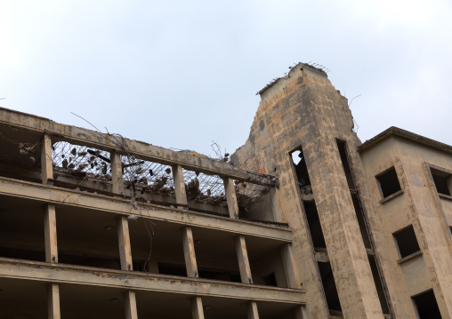 Building destoyed by the war in Mar Mikhael, Beirut Governorate, Beirut, Lebanon
