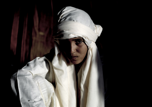 Tuareg boy with turban, Tripolitania, Ghadames, Libya