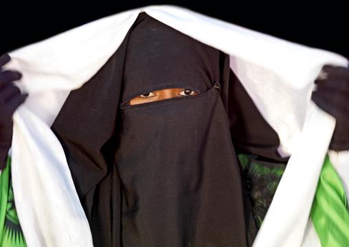 Woman in burqa, Tripolitania, Ghadames, Libya