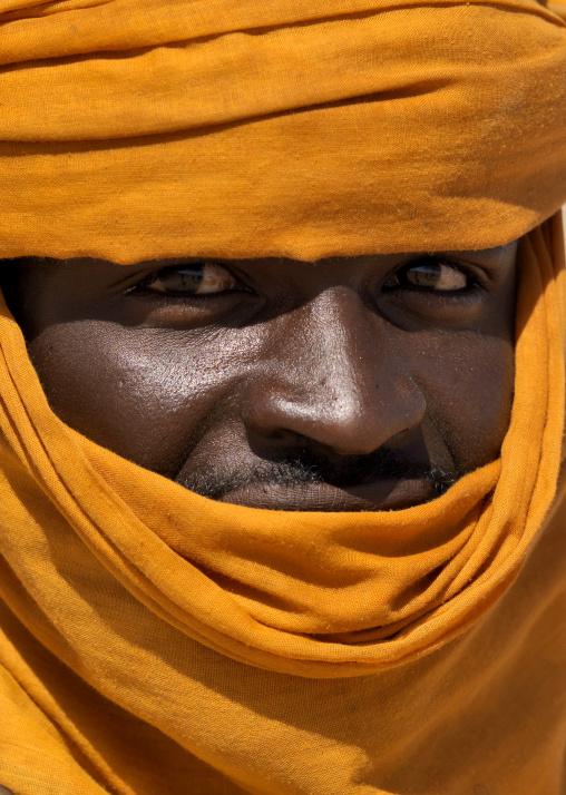Portrait of a tuareg man, Tripolitania, Ghadames, Libya