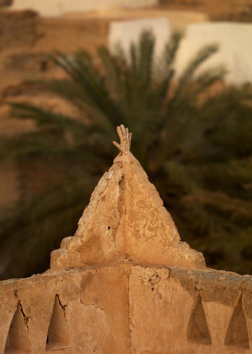Hand on an old berber house, Tripolitania, Ghadames, Libya