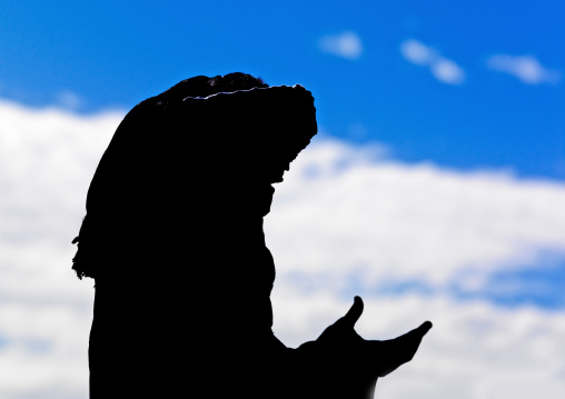 Portrait of a praying tuareg, Tripolitania, Ghadames, Libya