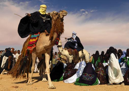 Tuareg dance with camels, Tripolitania, Ghadames, Libya