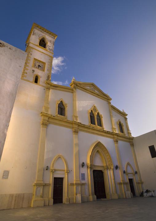 The facade of santa maria degli angeli the catholic church, Tripolitania, Tripoli, Libya