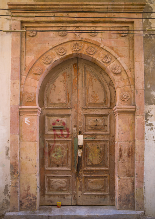 Building entrance from the italian settlement, Tripolitania, Tripoli, Libya