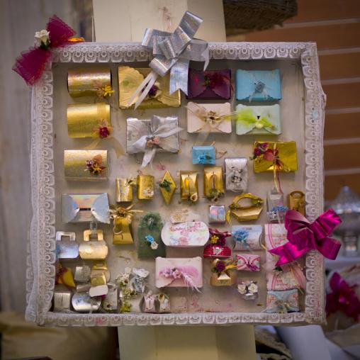 Gifts for wedding for sale in a market, Tripolitania, Tripoli, Libya