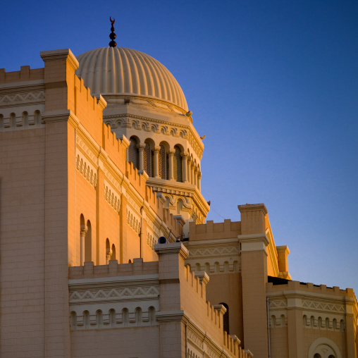 Former cathedral in algeria square converted to a mosque after the italian rule, Tripolitania, Tripoli, Libya
