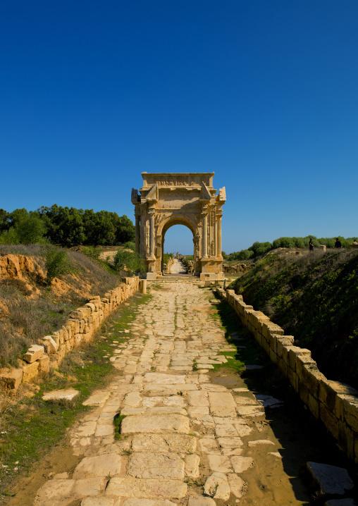 Leptis magna arch of septimus severus, Tripolitania, Khoms, Libya
