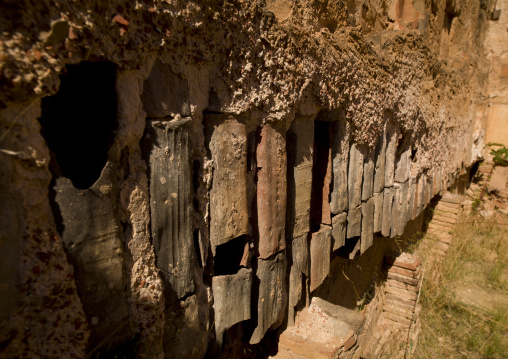 Hadrianic bath-house remains in leptis magna, Tripolitania, Khoms, Libya