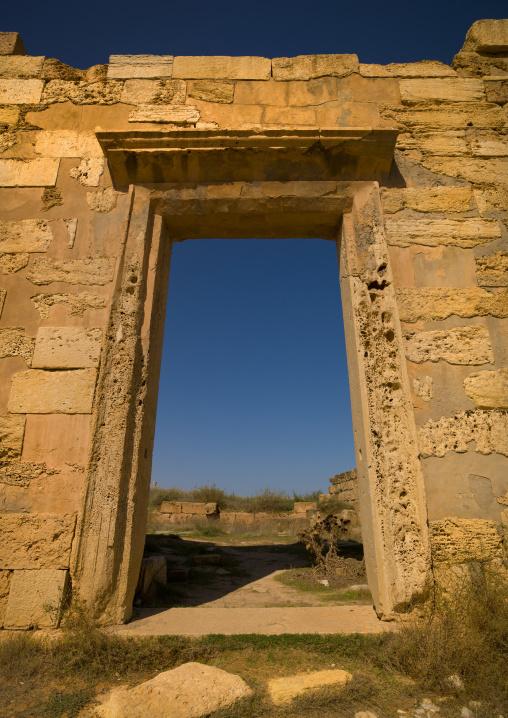 Arch in leptis magna ruins, Tripolitania, Khoms, Libya