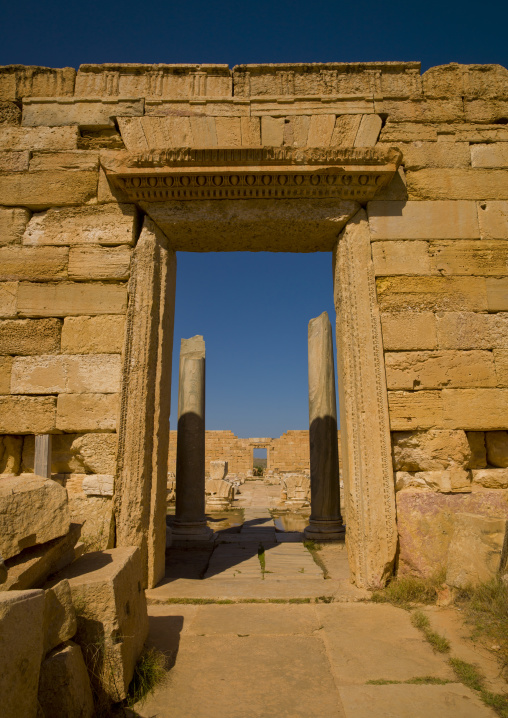 Severan forum in leptis magna, Tripolitania, Khoms, Libya