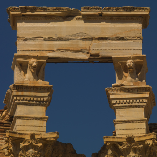 Severan basilica in leptis magna, Tripolitania, Khoms, Libya