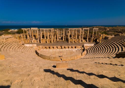 Roman theatre in leptis magna, Tripolitania, Khoms, Libya
