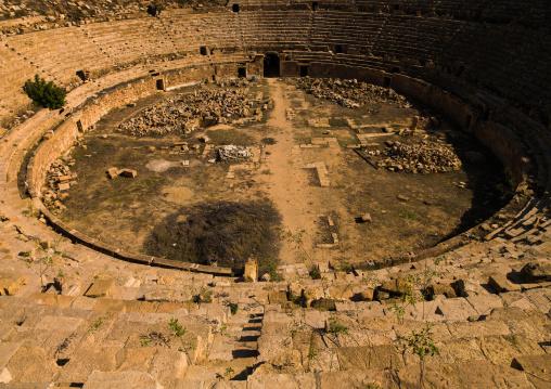 Amphitheatre in  leptis magna, Tripolitania, Khoms, Libya