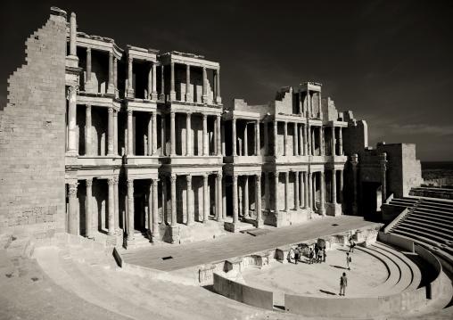Theatre in ancient roman city, Tripolitania, Sabratha, Libya