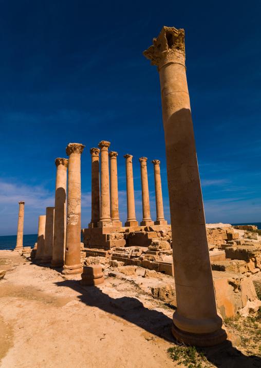 Ruins of a temple, Tripolitania, Sabratha, Libya