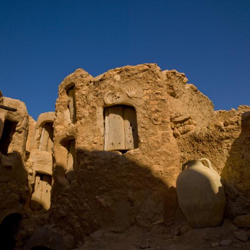 Granaries in the old ksar, Tripolitania, Nalut, Libya