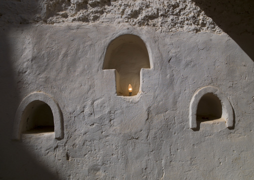 Niche for candles in an old house, Tripolitania, Ghadames, Libya