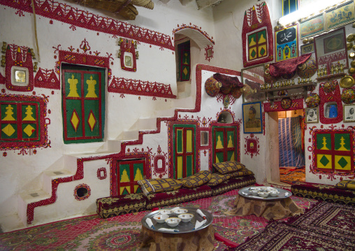 Traditional berber house decoration in the old town, Tripolitania, Ghadames, Libya
