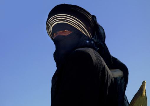 Tuareg man in traditional clothing, Tripolitania, Ghadames, Libya