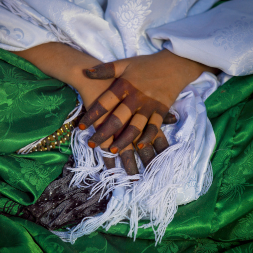 Tuareg woman hands with henna, Tripolitania, Ghadames, Libya