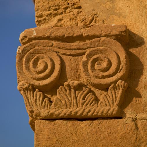 Column in the ancient city, Fezzan, Germa, Libya