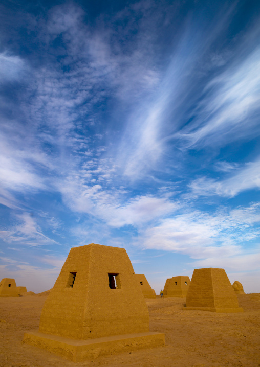 Garamantian burial tombs and pyramids, Fezzan, Germa, Libya