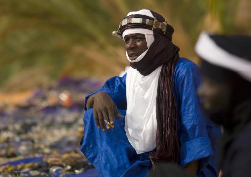 Portrait of a tuareg man, Fezzan, Umm al-Maa, Libya