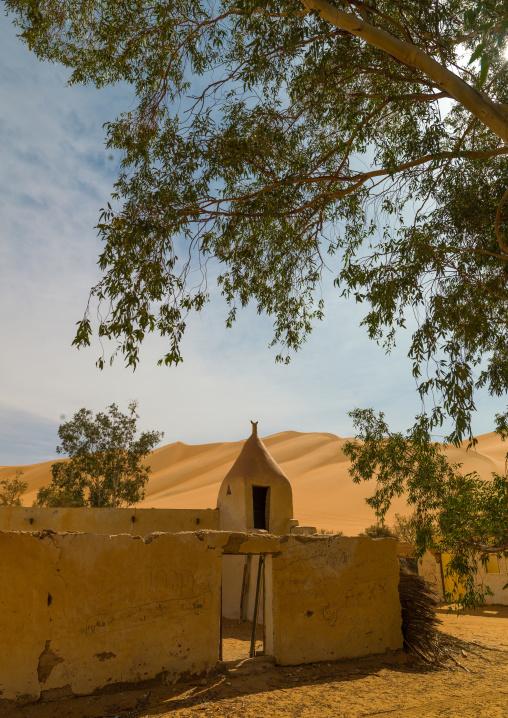 Old mosque in ubari lakes, Fezzan, Umm al-Maa, Libya