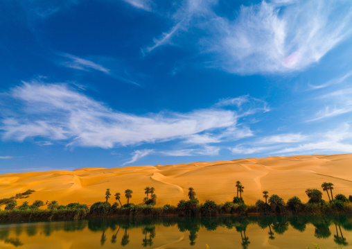 Ubari lakes, Fezzan, Umm al-Maa, Libya
