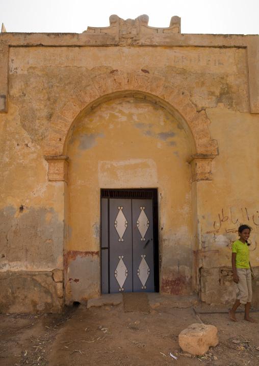 Old italian colonial building, Cyrenaica, Ptolemais, Libya