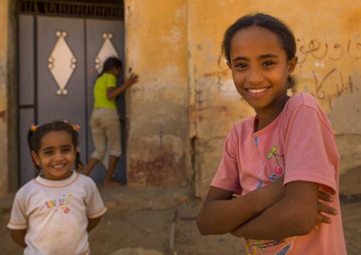 Smiling children, Cyrenaica, Ptolemais, Libya