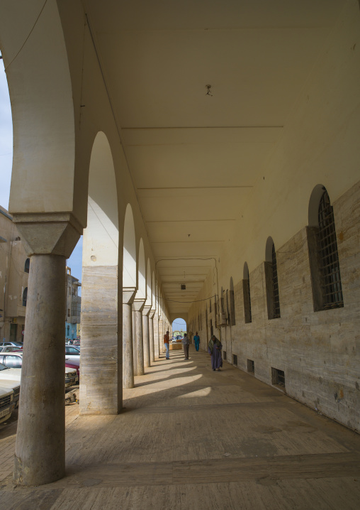 Omar al mukhtar street in the italian quarter, Cyrenaica, Benghazi, Libya