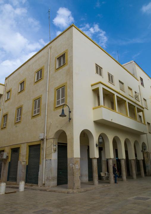 Italian buildings in omar al mukhtar street, Cyrenaica, Benghazi, Libya