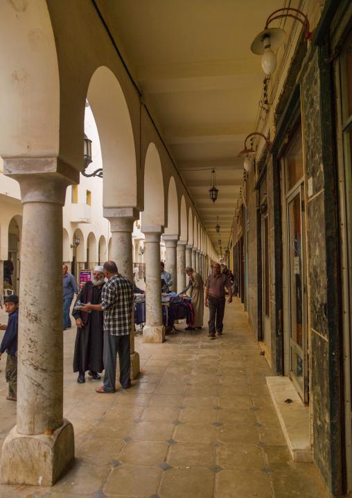 Arcades in the italian quarter, Cyrenaica, Benghazi, Libya