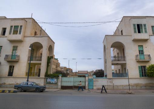 Building from the italian settlement, Cyrenaica, Benghazi, Libya