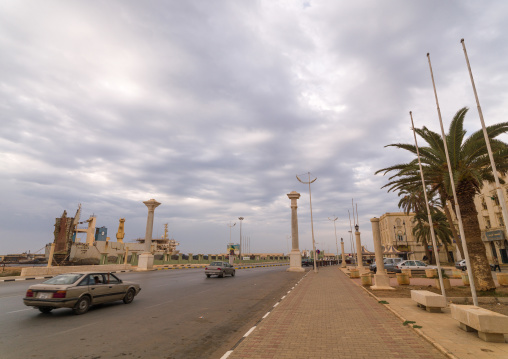 Road in the italian settlement, Cyrenaica, Benghazi, Libya