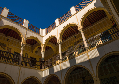 Inner courtyard in the medina, Tripolitania, Tripoli, Libya