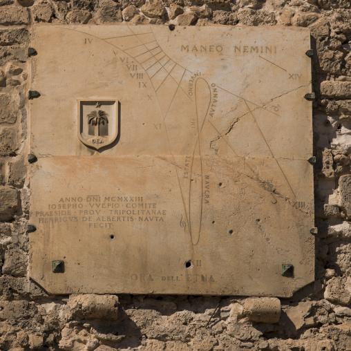 Old italian sundial, Tripolitania, Tripoli, Libya