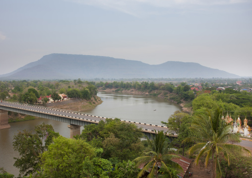 Bridge over mekong river, Pakse, Laos